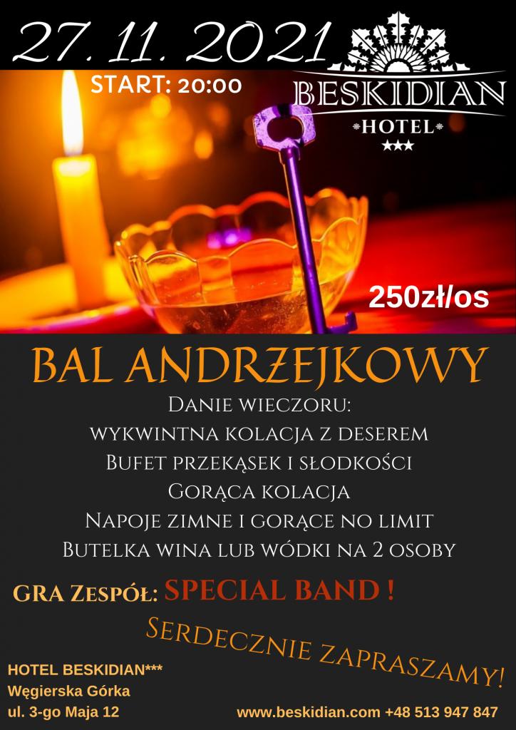 Andrzejki 2021 - Hotel Beskidian Węgierska Górka