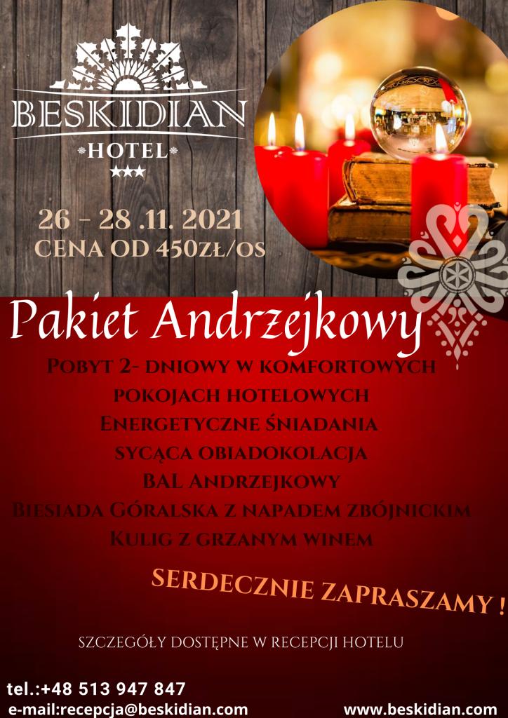Pakiet Andrzejkowy 2021 - Hotel Beskidian Węgierska Górka